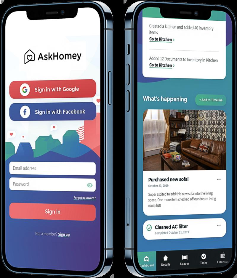 Brave Factor AskHomey mobile mock up