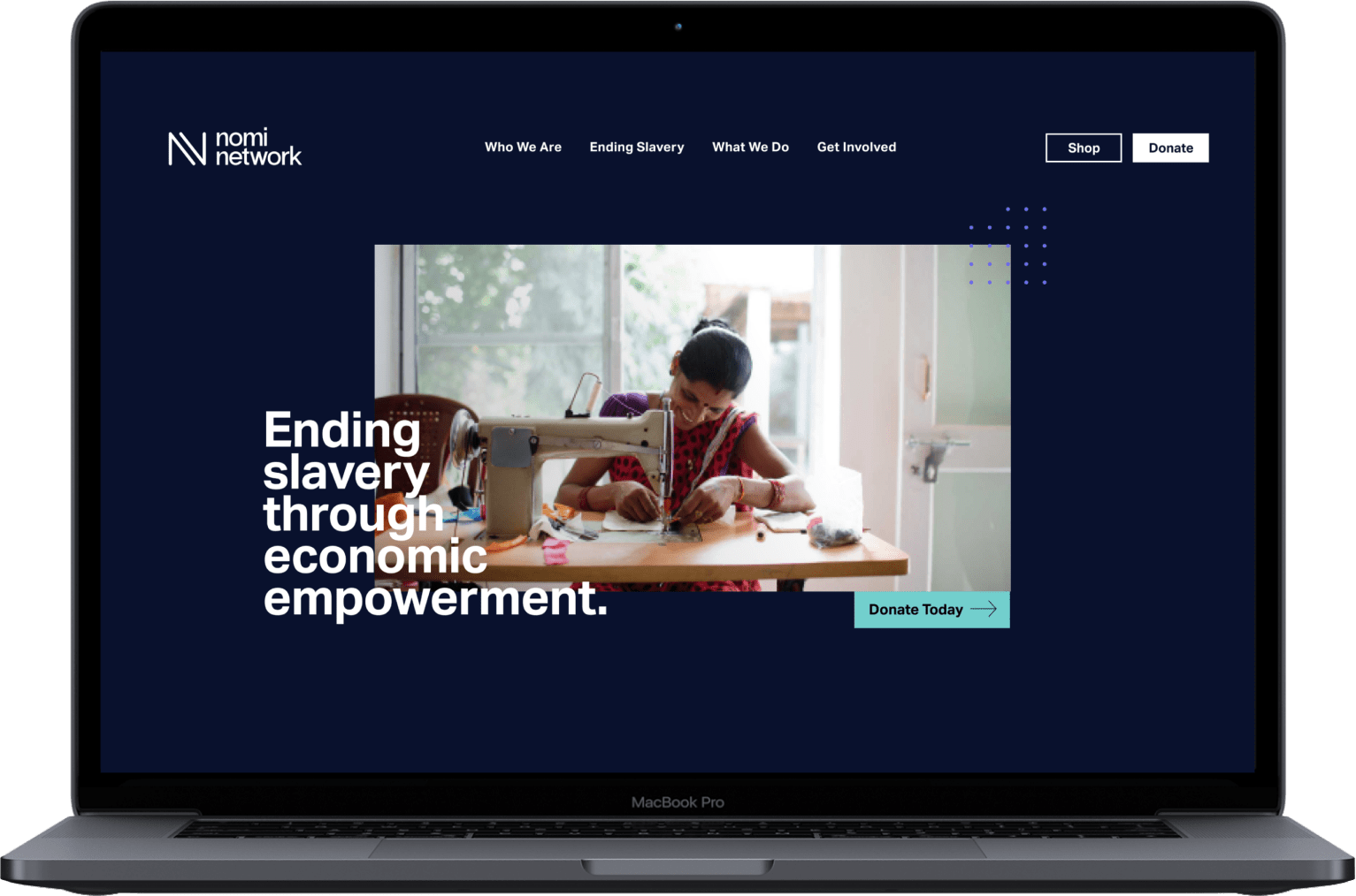 Brave Factor website mock up laptop