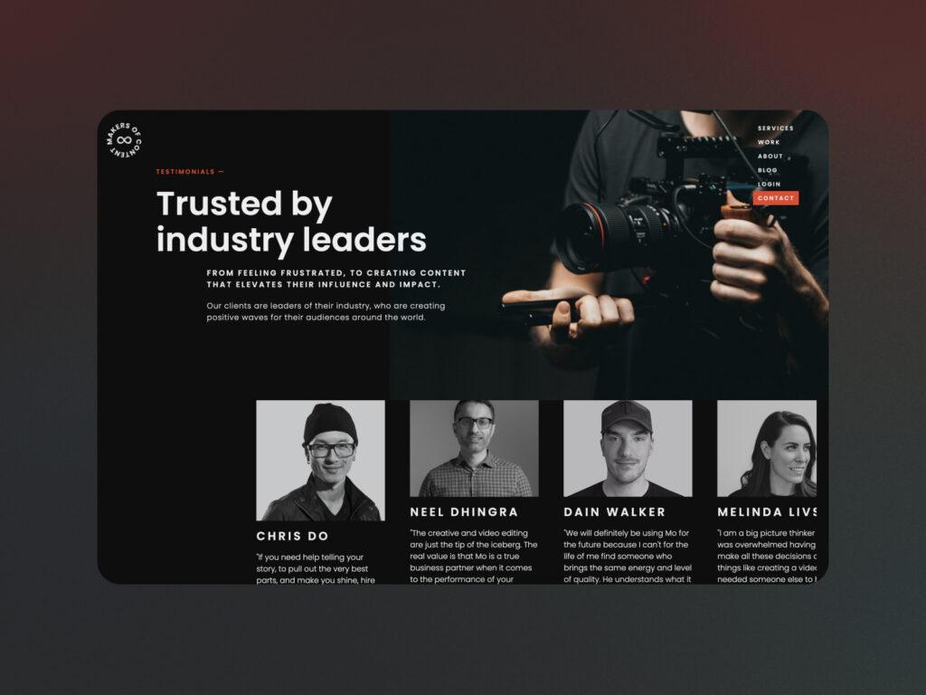 Brave Factor MOCS web design Awwward winning project