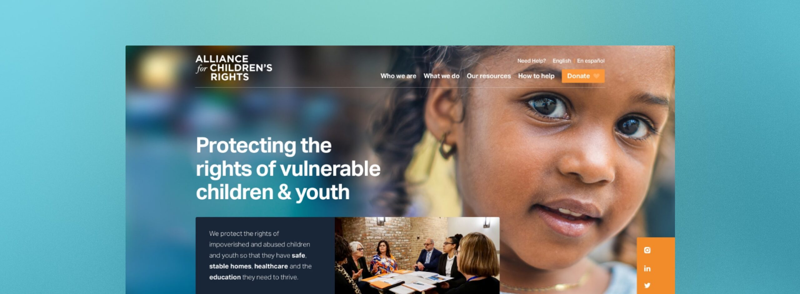 Brave Factor Web Development for Foster Youth Nonprofits
