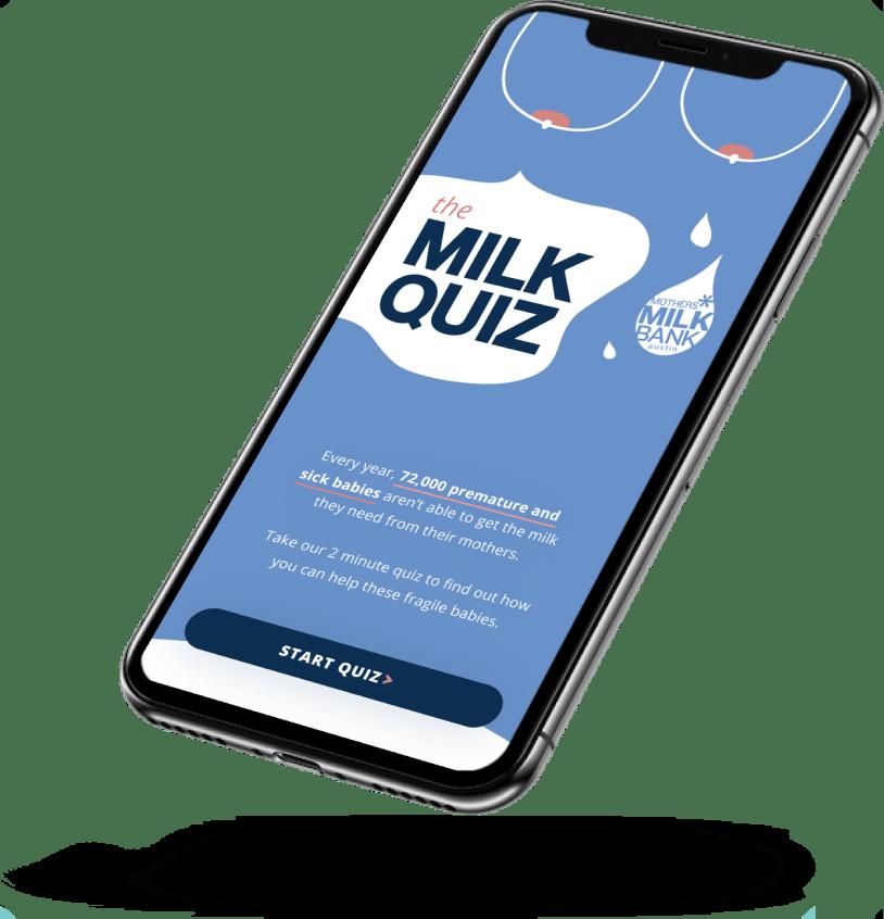 Mothers Milk Bank website showcase mobile version